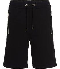 balmain embossed shorts