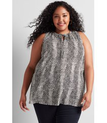 lane bryant women's tie-neck halter top 22 animal stripe
