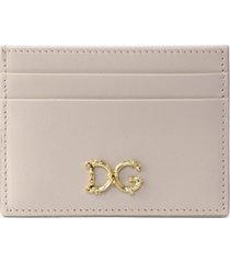 dolce & gabbana baroque dg credit card holder in calfskin