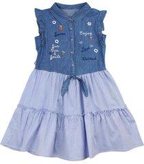 vestido #denimlife azul ficcus