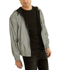 guess men's reflective jacket