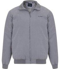 jaqueta suede com manta e forro fake fur caqui - bege - masculino - dafiti