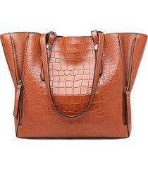 borsa a tracolla per donna in pelle di coccodrillo modello di grande capacità