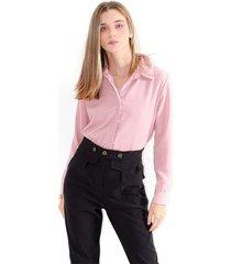 camisa para mujer en poliester color-rosa-mag-talla-xs