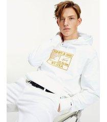 tommy hilfiger men's embroidered surplus hoodie white - s