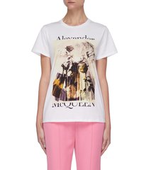 abstract floral print t-shirt