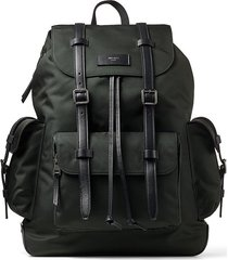 jimmy choo wixon multi-pocket backpack - green