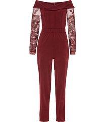 tuta elegante con spalle scoperte (rosso) - bodyflirt boutique