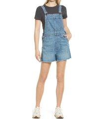 women's madewell women's adirondack short overalls, size x-small - blue
