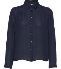 marielle top blouse lange mouwen blauw filippa k