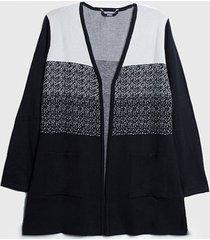 cardigan ash abierto negro - calce regular