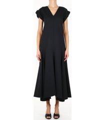 jil sander long dress black