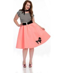 buyseasons women's poodle skirt purple plus adult costume
