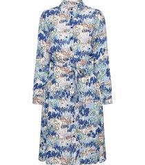 dress knälång klänning blå brandtex