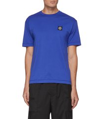 'gauzed' logo patch cotton jersey t-shirt