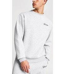 river island mens prolific grey regular fit sweatshirt