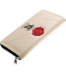 harry potter hogwarts letter pu purse fashion women clutch zip around wallet