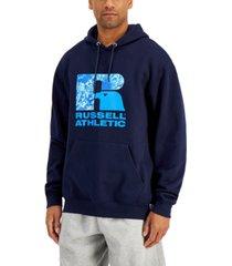 russell athletic men's santiago logo-print hoodie