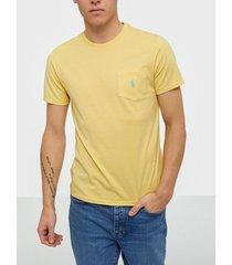 polo ralph lauren short sleeve t-shirt t-shirts & linnen yellow