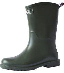 botas lluvia mediana yorq bottplie - verde militar matte