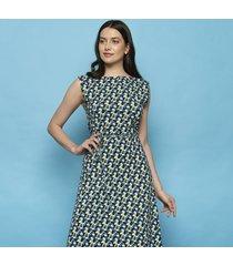 tranquillo jurk eva mouwloos candy blauw