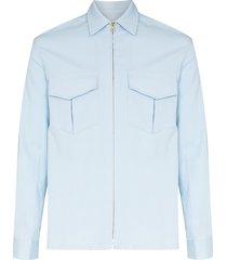 casablanca voilier zip-up shirt - blue