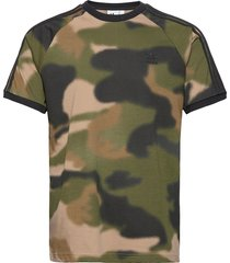 camo 3-stripes t-shirt t-shirts short-sleeved svart adidas originals