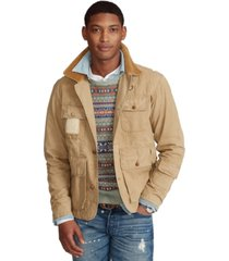 polo ralph lauren men's shearling-patch wading jacket