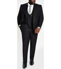 river island mens big and tall black skinny fit suit pants