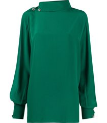christopher kane arm slit blouse - green