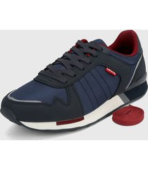 tenis azul navy-blanco-rojo levis