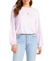 women's bb dakota beachwood sweater, size x-small - purple