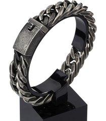 pulsera para hombre vintage cadena 12mm / 15mm negro envejecido 71831