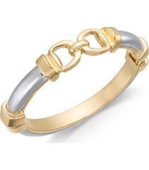 charter club two-tone horesebit bangle bracelet, created for macy's