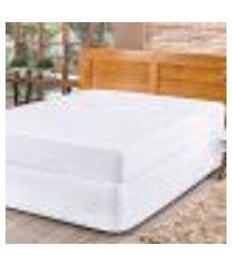 protetor capa de colchão impermeável casal padrão matelado