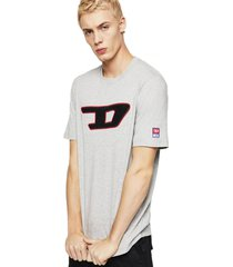 polera t just division d t shirt gris diesel