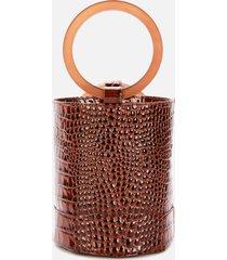 simon miller women's bonsai 20 croc bucket bag - cocoa