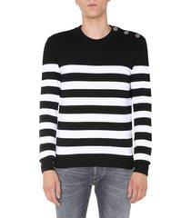 balmain crew neck sweater