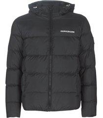 donsjas calvin klein jeans hooded down puffer jacket