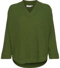 faithe stickad tröja grön masai