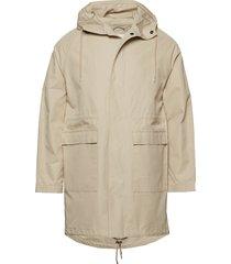 long twill hood jacket - gots/vegan dun jack beige knowledge cotton apparel