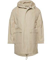 ocean long hood jacket parka jas beige knowledge cotton apparel