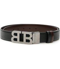 bally reversible mirror b buckle belt