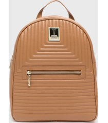 mochila marrón vizzano