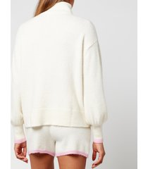 kitri women's lorna knitted top - ivory - l