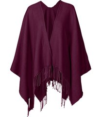 poncho in tinta unita (viola) - bpc bonprix collection