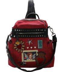 mochila roja leblu sagrado corazón