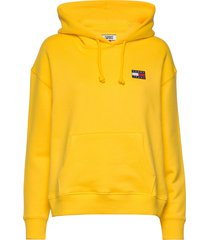 tjw tommy badge hoodie hoodie gul tommy jeans