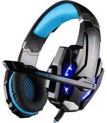 audifonos diadema con enchufe usb y reducción de ruido - azul
