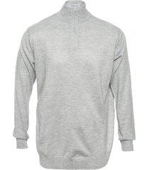 sweater gris berkland poly medio cierre